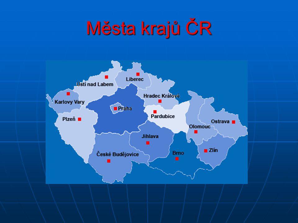 Města krajů ČR