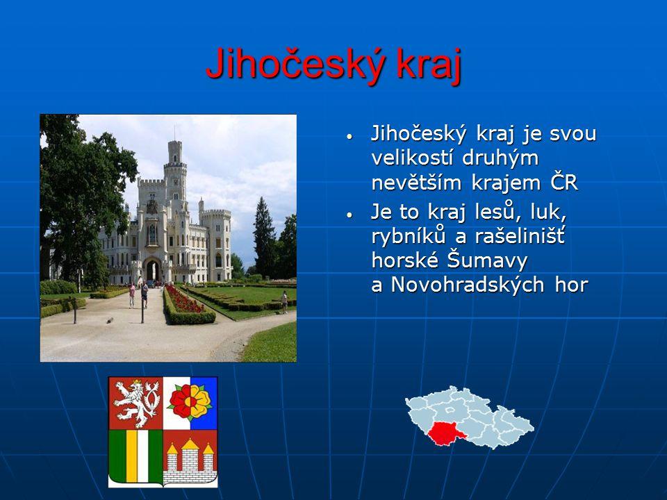 Jihočeský kraj Jihočeský kraj je svou velikostí druhým nevětším krajem ČR.