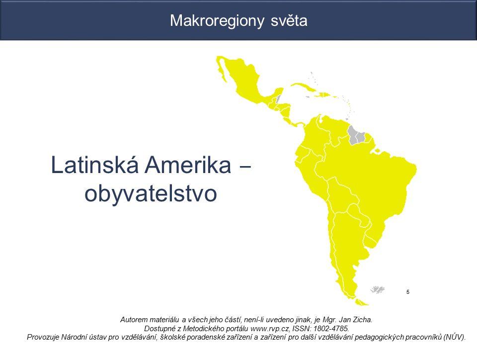 Latinská Amerika ‒ obyvatelstvo