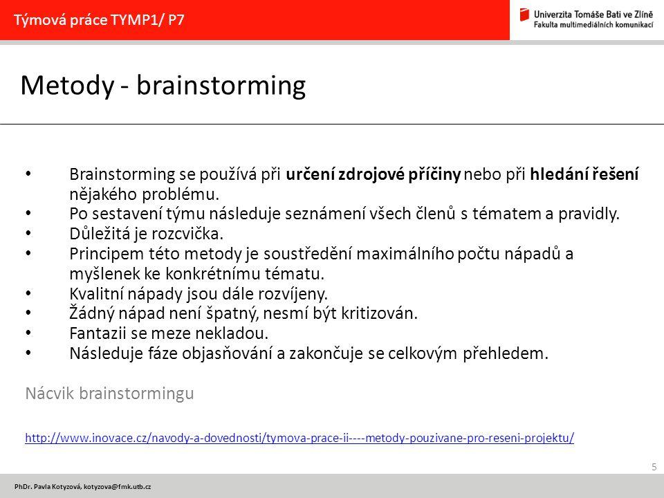Metody - brainstorming