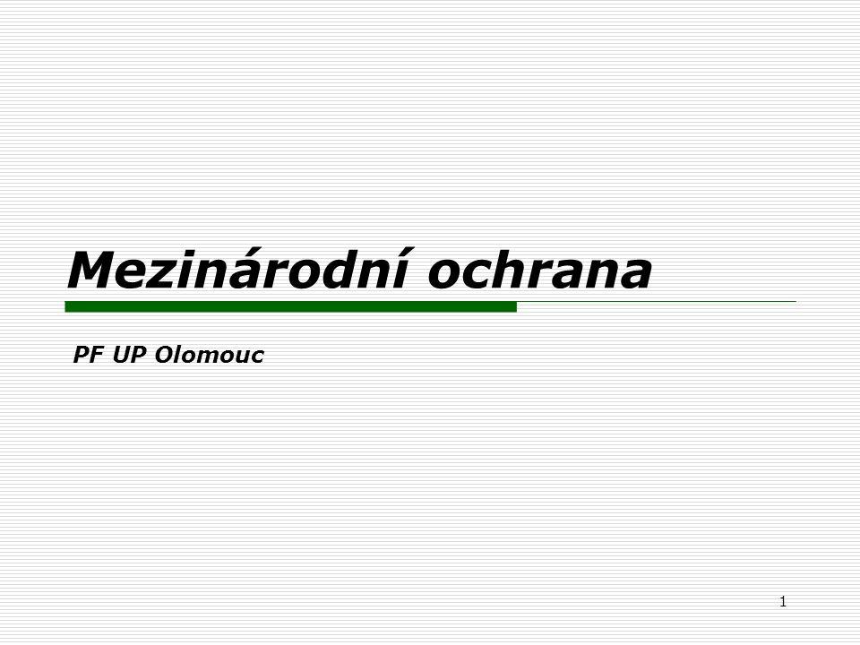 Mezinárodní ochrana PF UP Olomouc