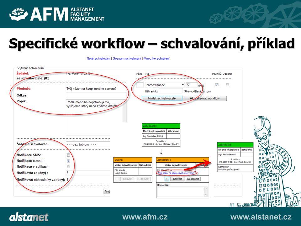 Specifické workflow – schvalování, příklad