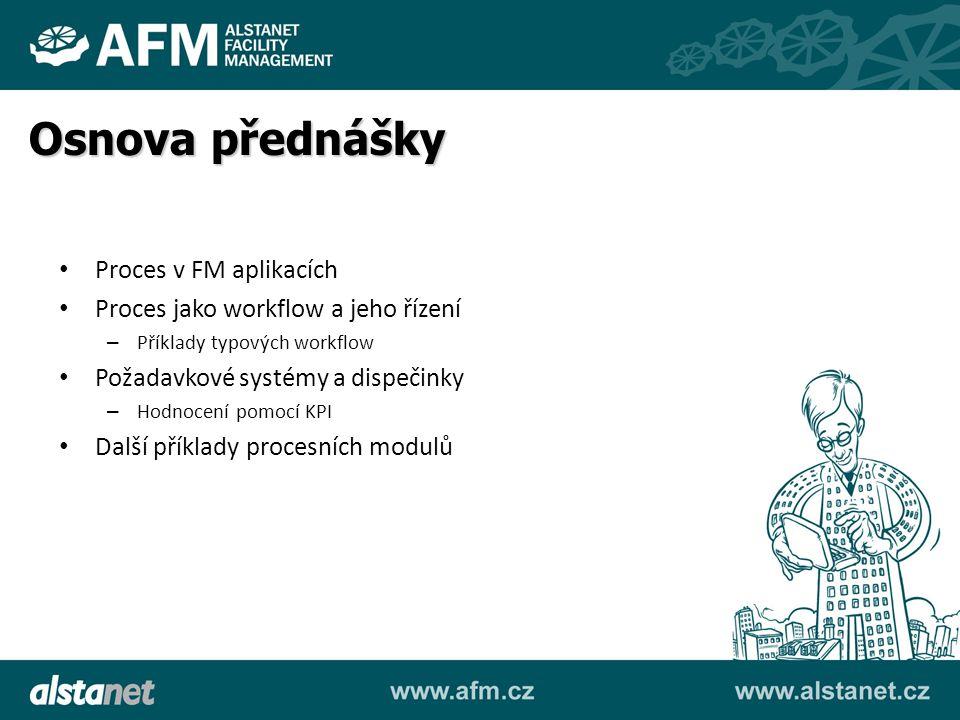 Osnova přednášky Proces v FM aplikacích