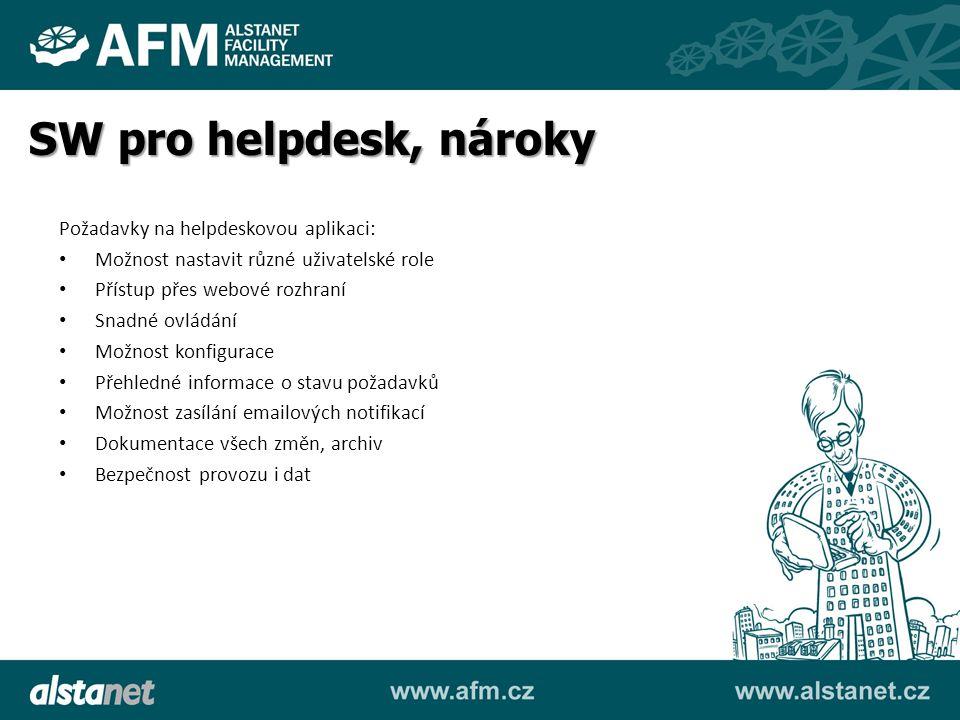 SW pro helpdesk, nároky Požadavky na helpdeskovou aplikaci: