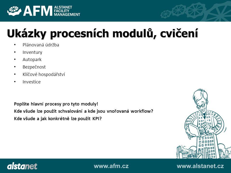 Ukázky procesních modulů, cvičení