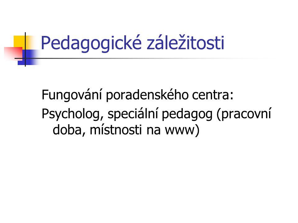 Pedagogické záležitosti