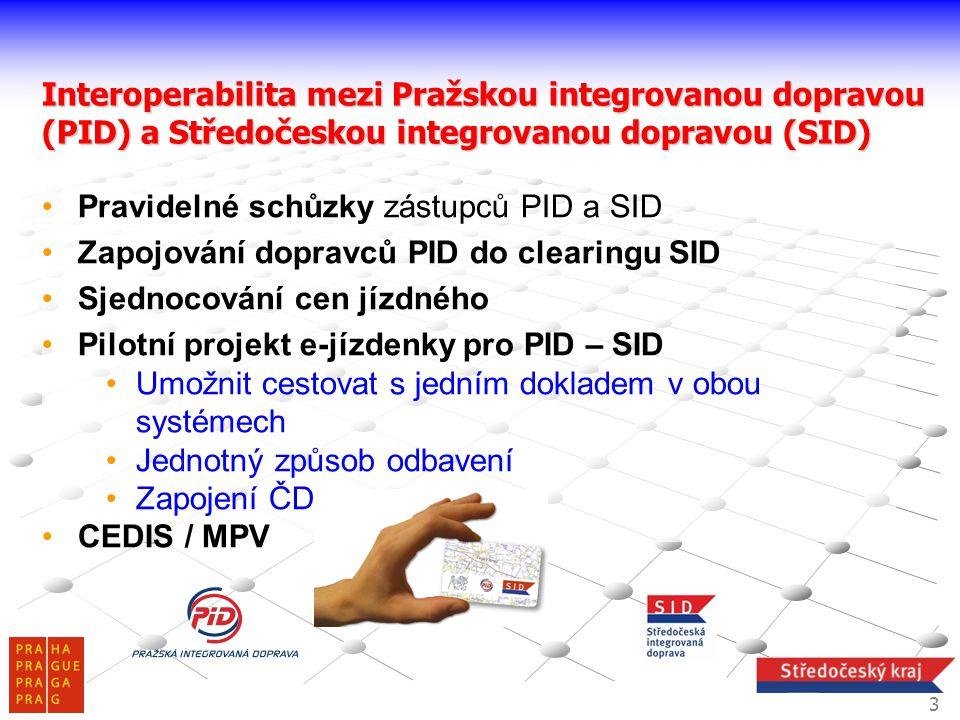 Pravidelné schůzky zástupců PID a SID