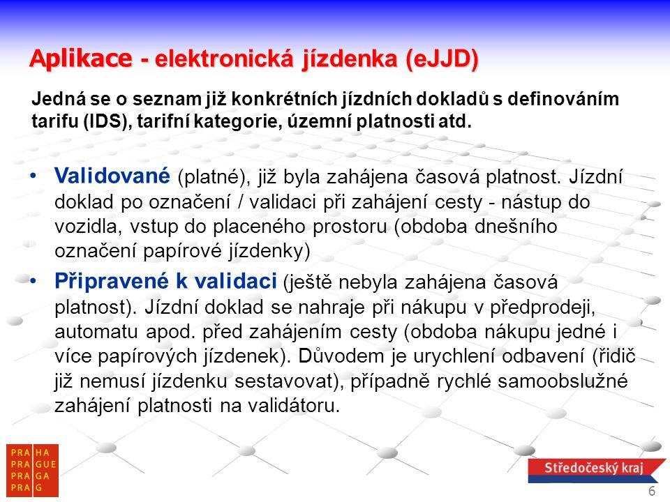 Aplikace - elektronická jízdenka (eJJD)