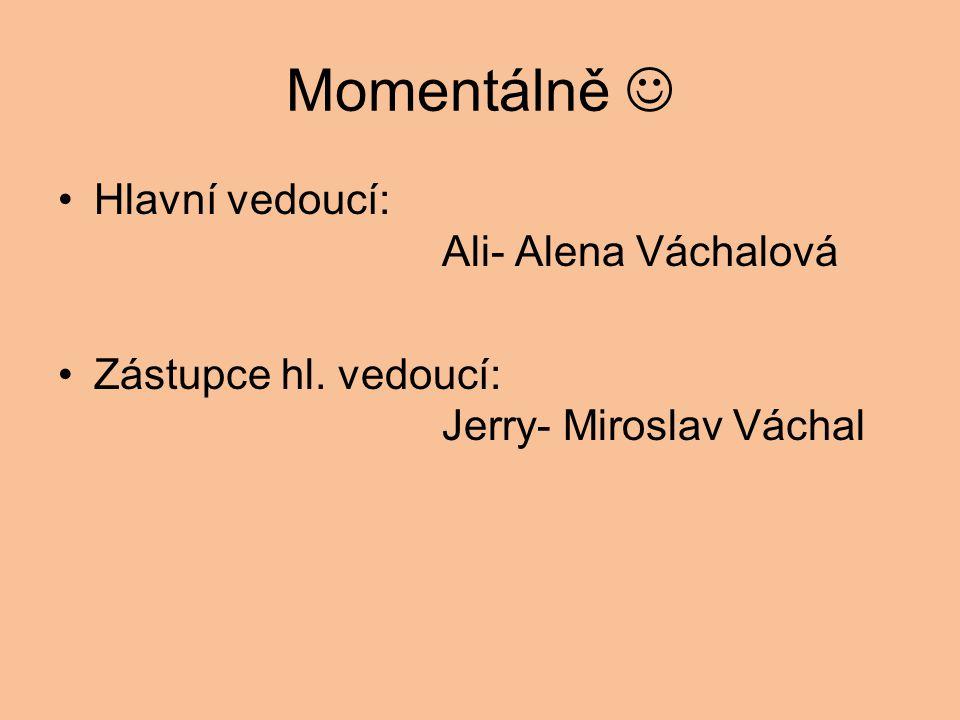 Momentálně  Hlavní vedoucí: Ali- Alena Váchalová