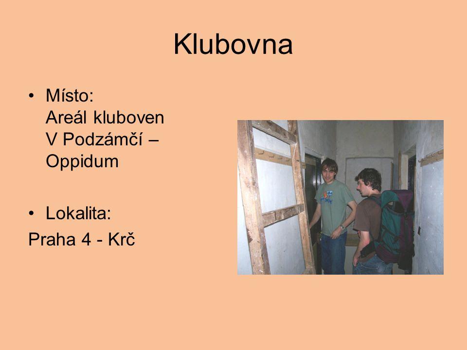 Klubovna Místo: Areál kluboven V Podzámčí – Oppidum Lokalita: