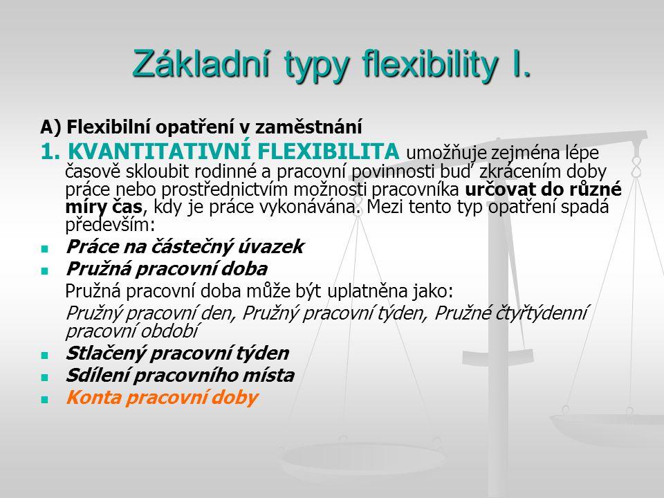 Základní typy flexibility I.