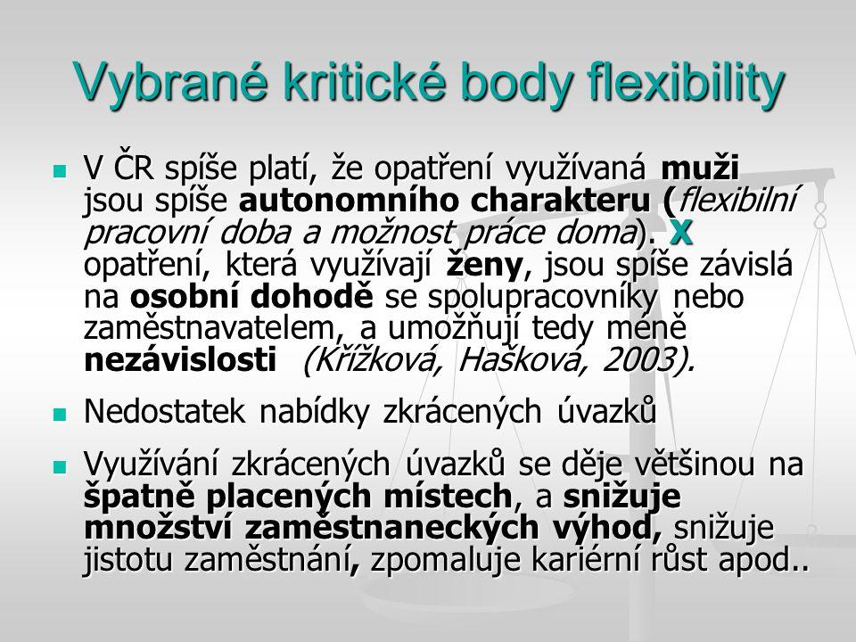 Vybrané kritické body flexibility