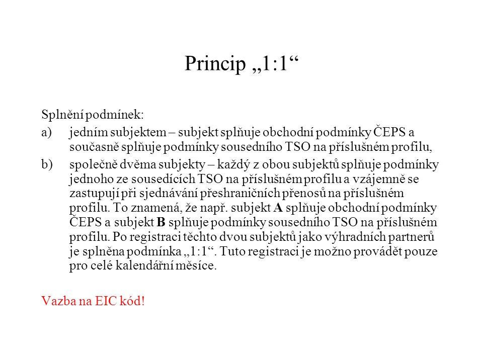 """Princip """"1:1 Splnění podmínek:"""