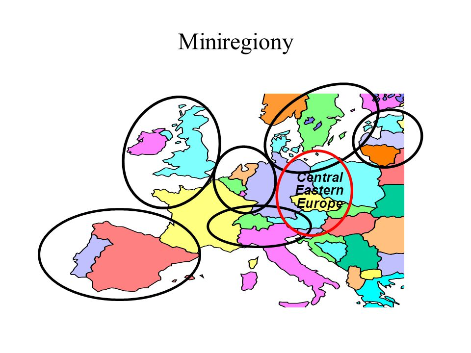 Miniregiony Central Eastern Europe