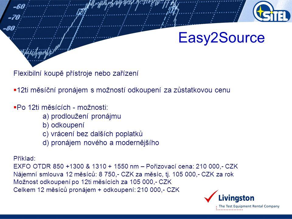 Easy2Source Flexibilní koupě přístroje nebo zařízení