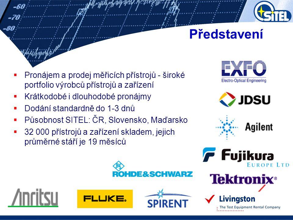 Představení Pronájem a prodej měřicích přístrojů - široké portfolio výrobců přístrojů a zařízení. Krátkodobé i dlouhodobé pronájmy.