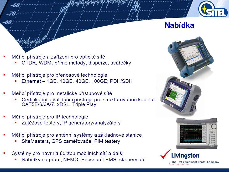 Nabídka Měřicí přístroje a zařízení pro optické sítě