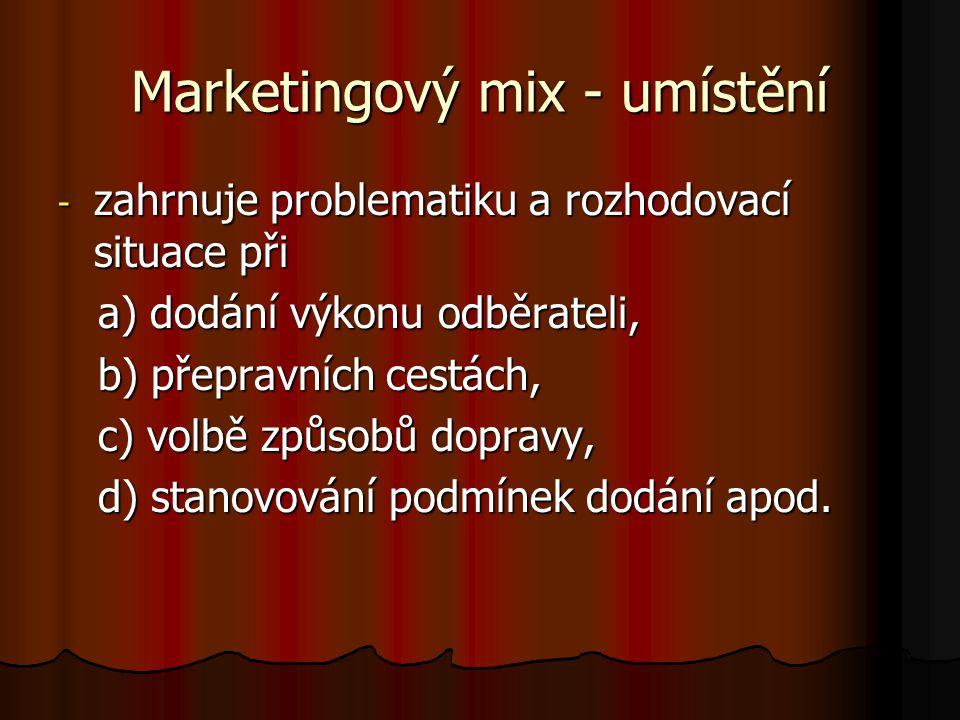 Marketingový mix - umístění