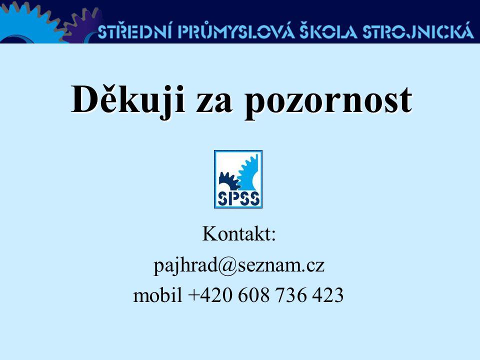 Kontakt: pajhrad@seznam.cz mobil +420 608 736 423