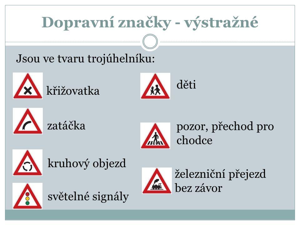 Dopravní značky - výstražné