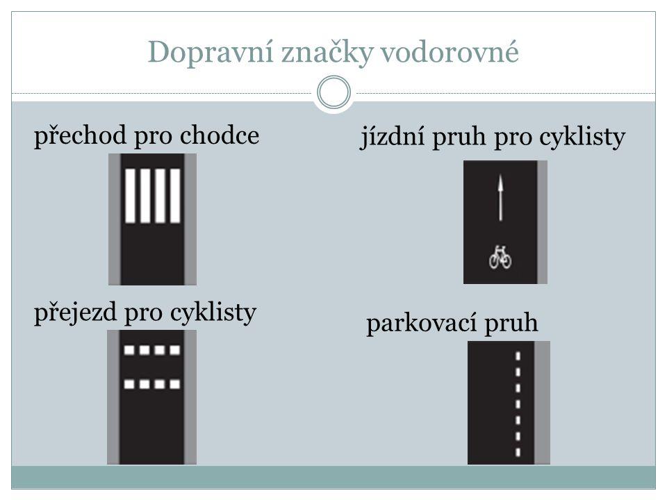 Dopravní značky vodorovné
