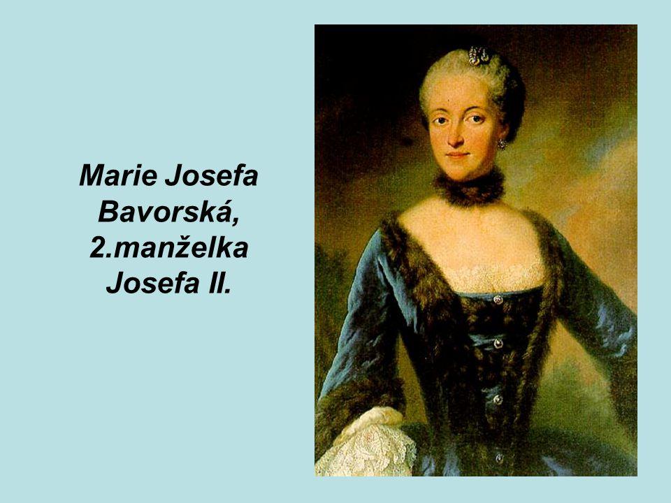 Marie Josefa Bavorská, 2.manželka Josefa II.