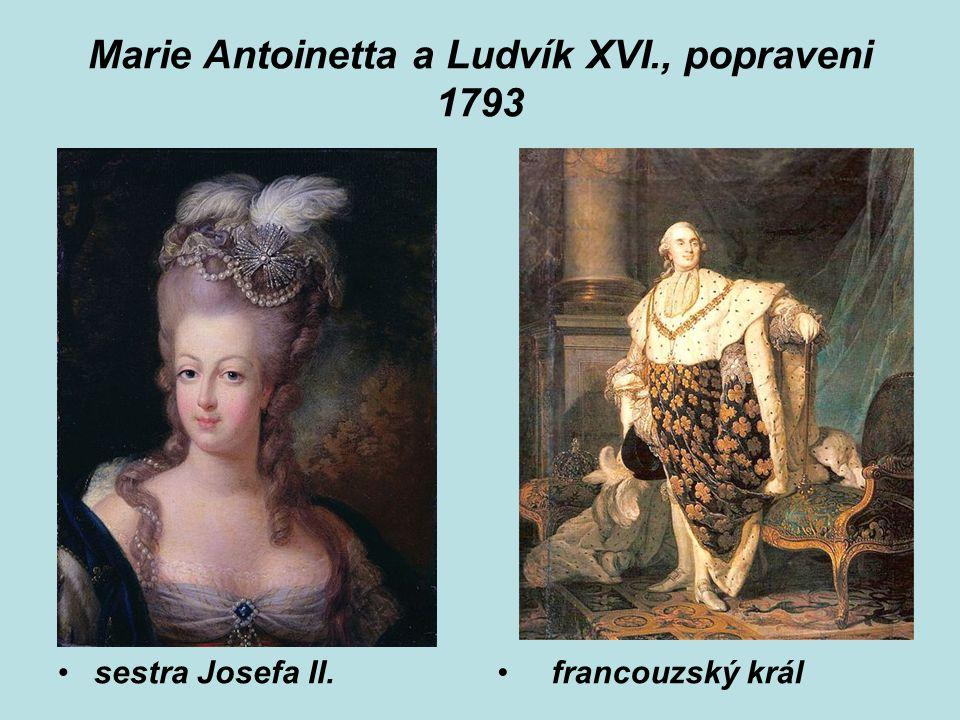 Marie Antoinetta a Ludvík XVI., popraveni 1793