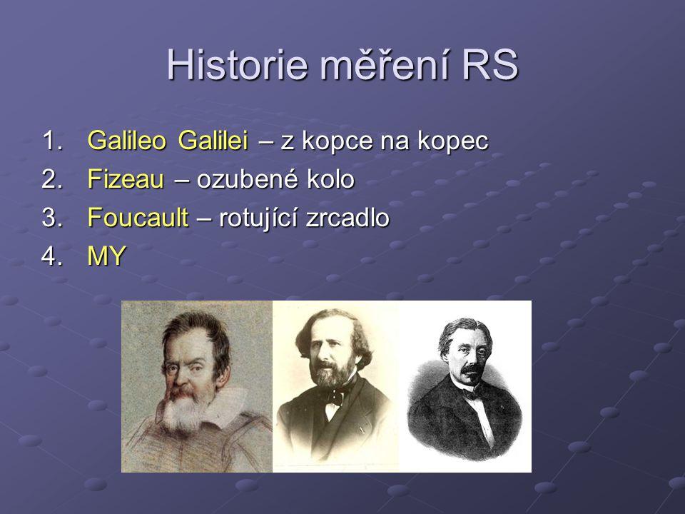 Historie měření RS Galileo Galilei – z kopce na kopec