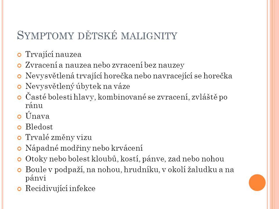 Symptomy dětské malignity
