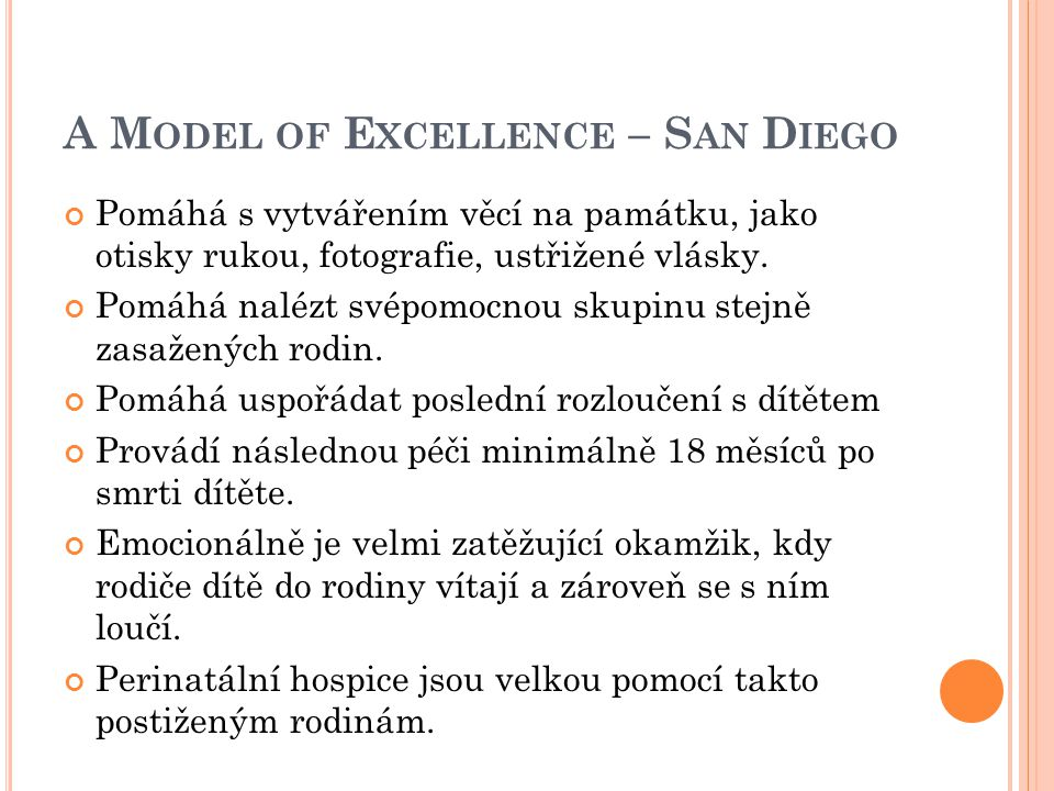 A Model of Excellence – San Diego