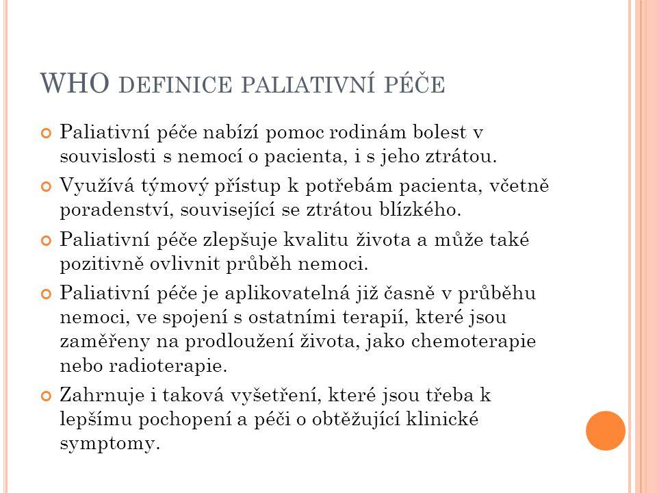 WHO definice paliativní péče