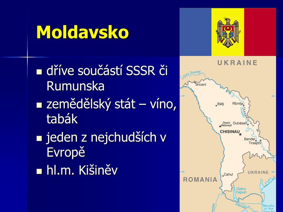 Moldavsko dříve součástí SSSR či Rumunska