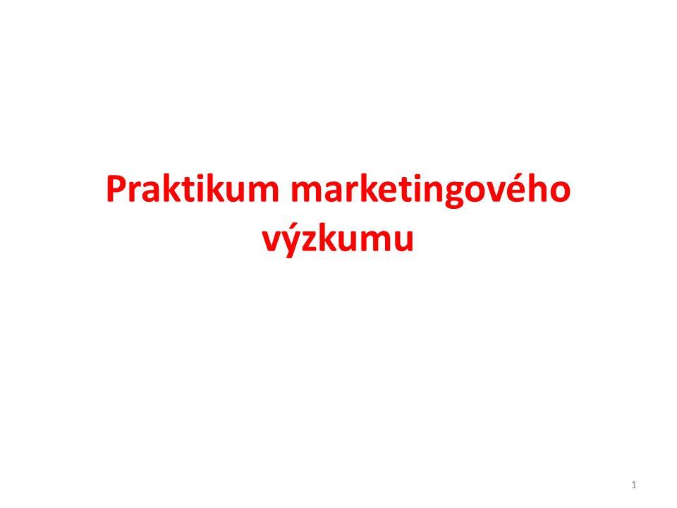 Praktikum marketingového výzkumu