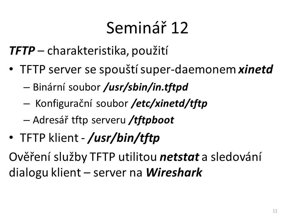 Seminář 12 TFTP – charakteristika, použití