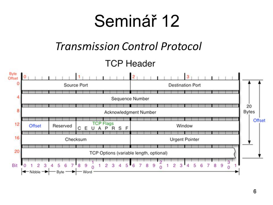 Seminář 12 Transmission Control Protocol 6 6