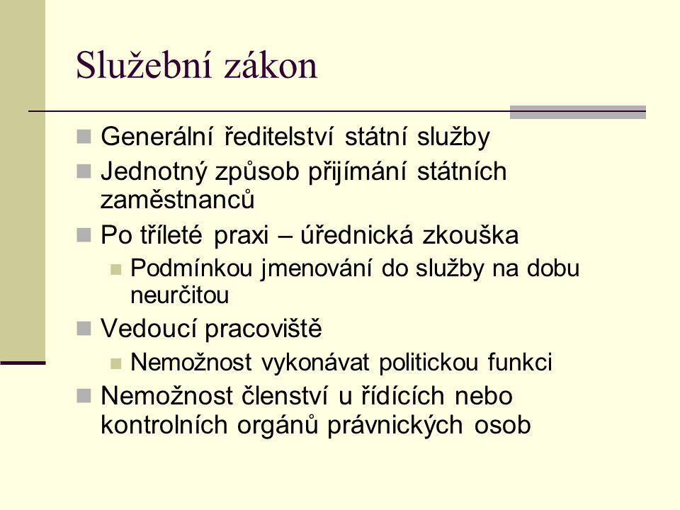 Služební zákon Generální ředitelství státní služby
