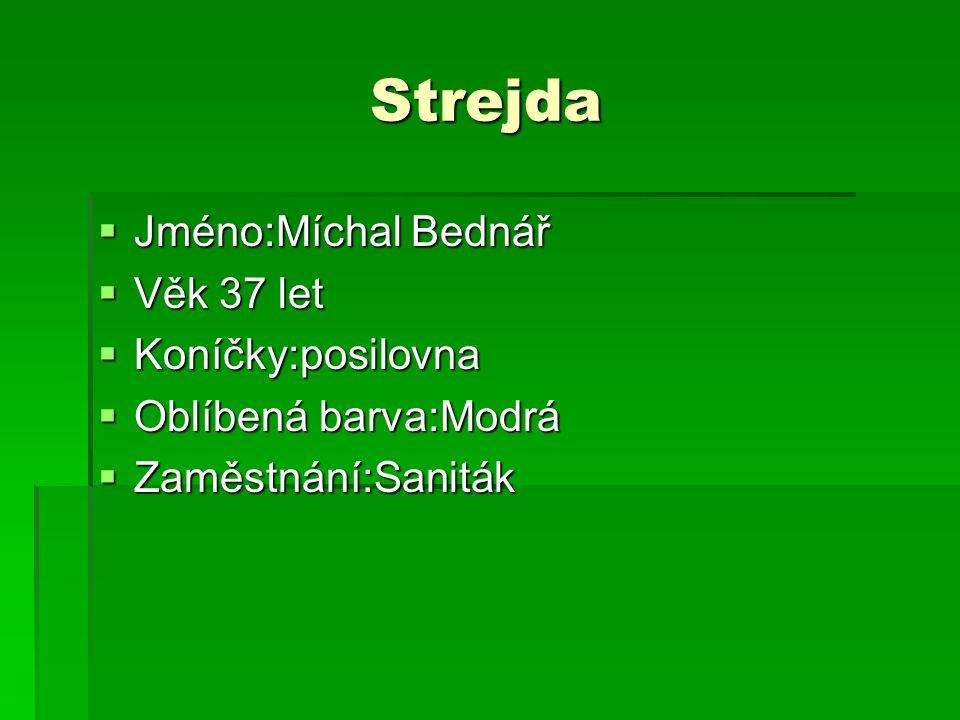 Strejda Jméno:Míchal Bednář Věk 37 let Koníčky:posilovna