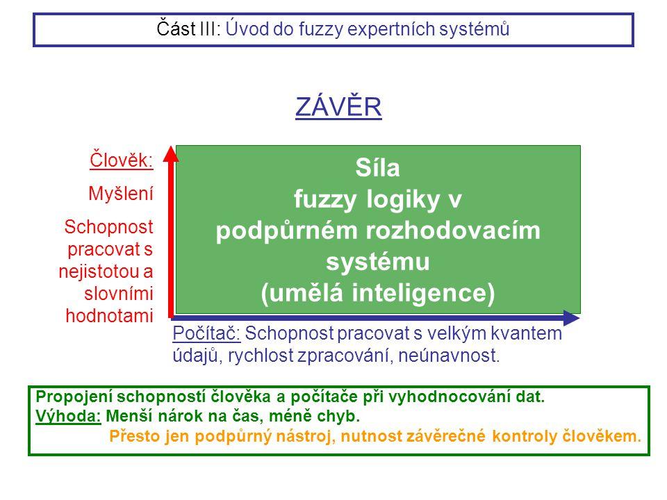Síla fuzzy logiky v podpůrném rozhodovacím systému (umělá inteligence)