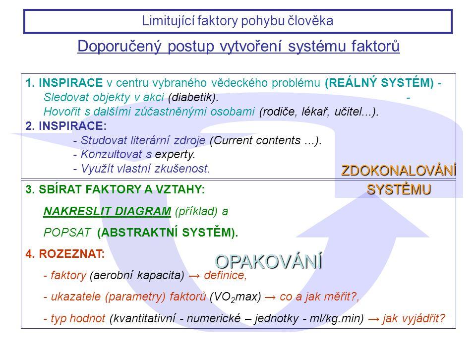 Doporučený postup vytvoření systému faktorů