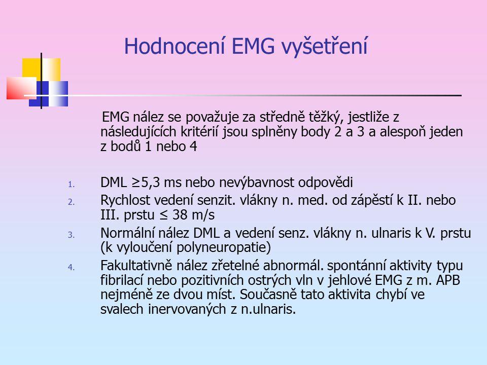 Hodnocení EMG vyšetření