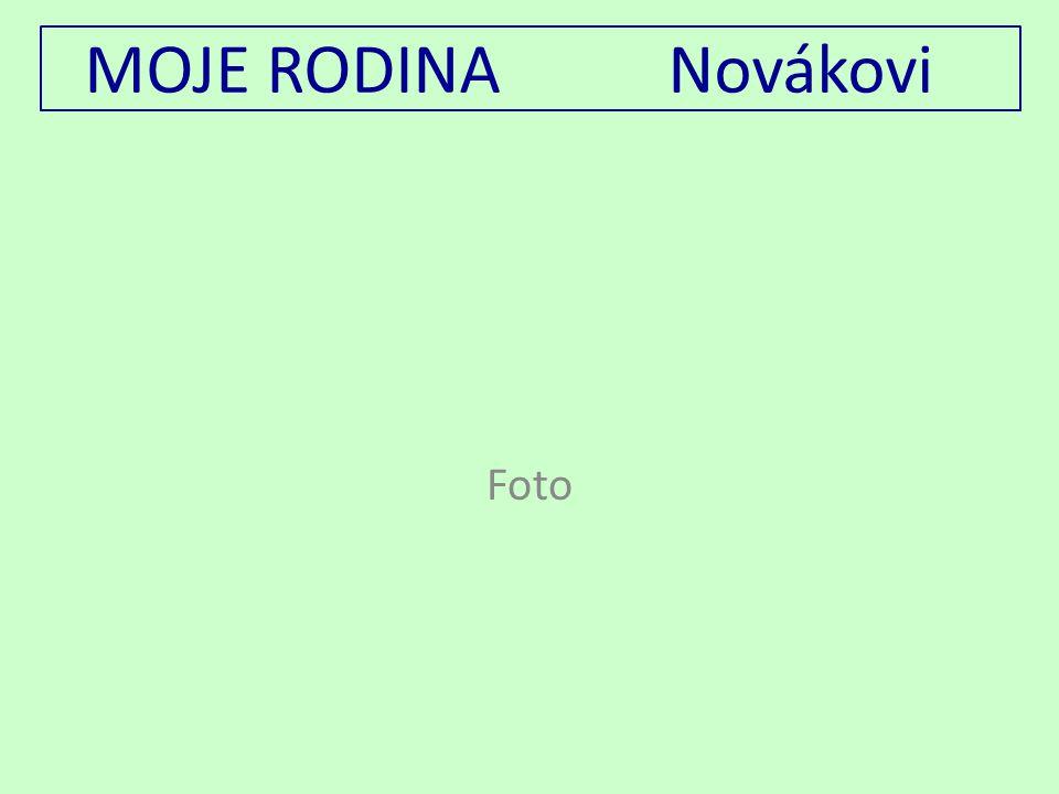 MOJE RODINA Novákovi Foto
