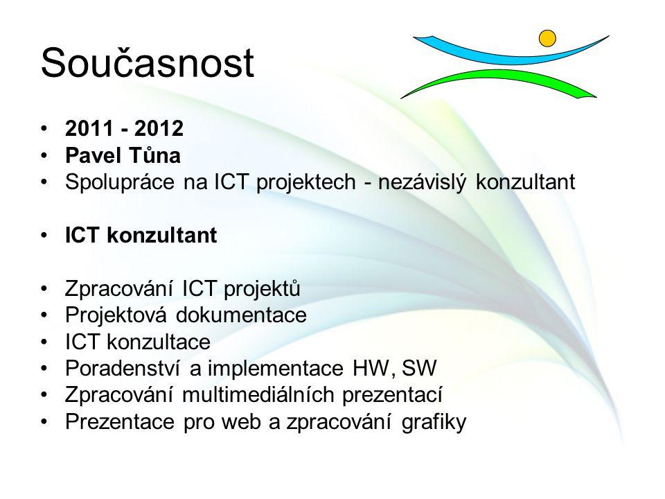 Současnost 2011 - 2012 Pavel Tůna