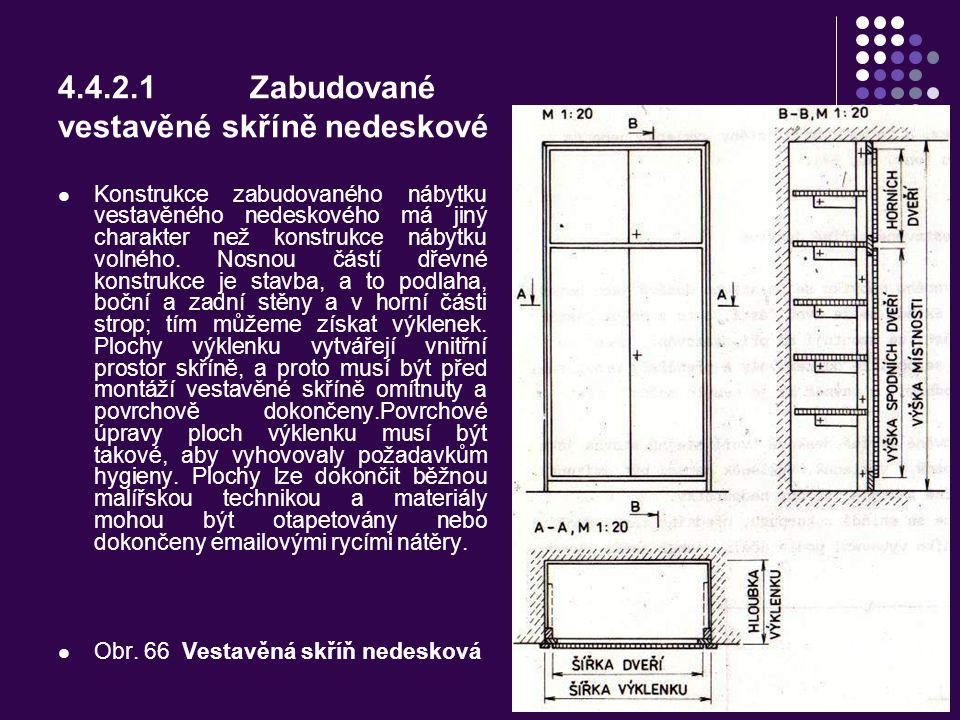 4.4.2.1 Zabudované vestavěné skříně nedeskové