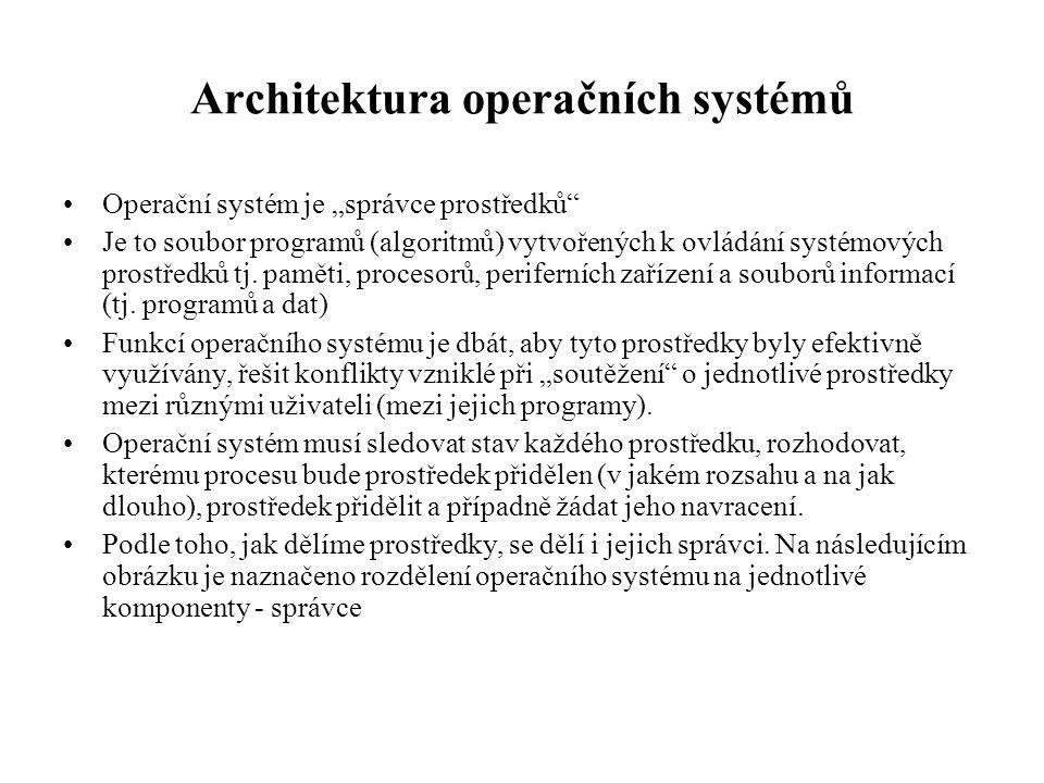Architektura operačních systémů