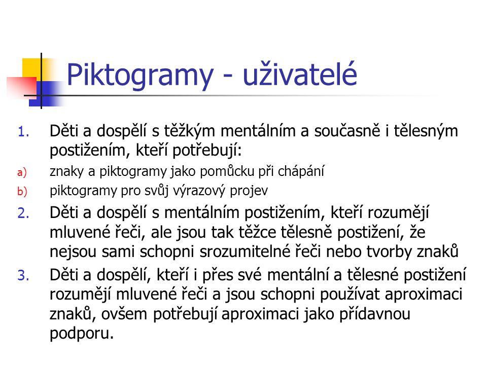Piktogramy - uživatelé