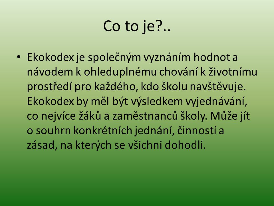 Co to je ..
