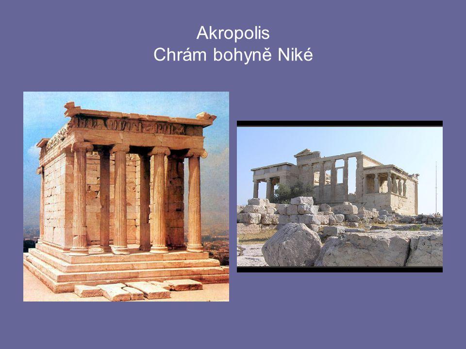 Akropolis Chrám bohyně Niké