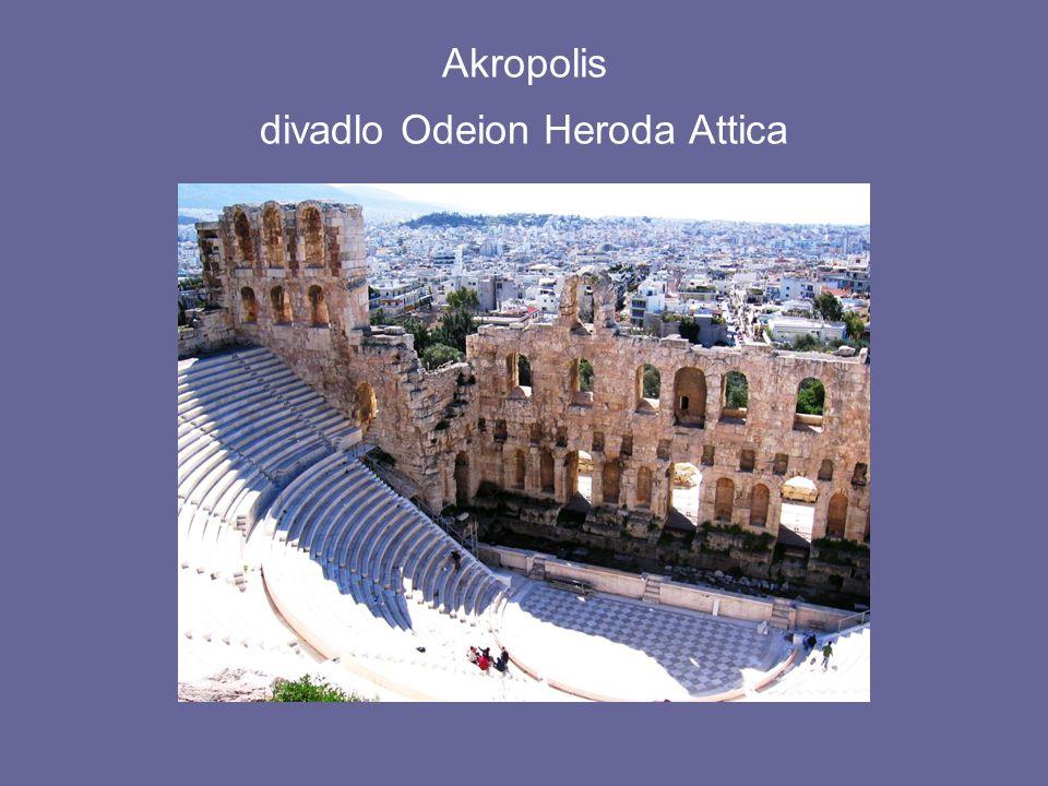 Akropolis divadlo Odeion Heroda Attica
