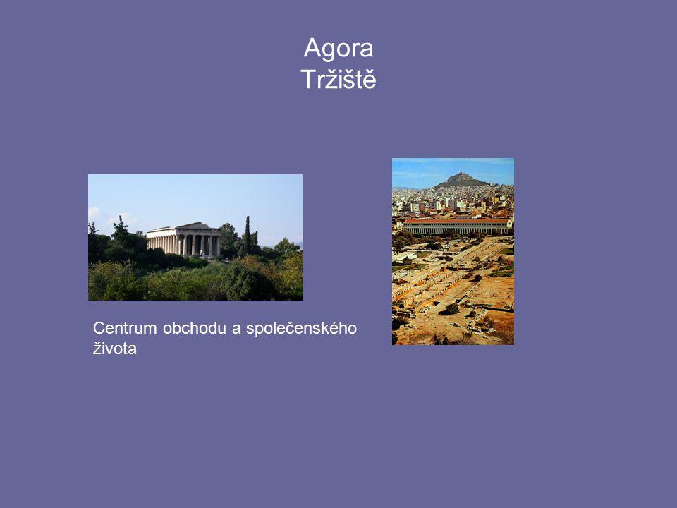 Agora Tržiště Centrum obchodu a společenského života