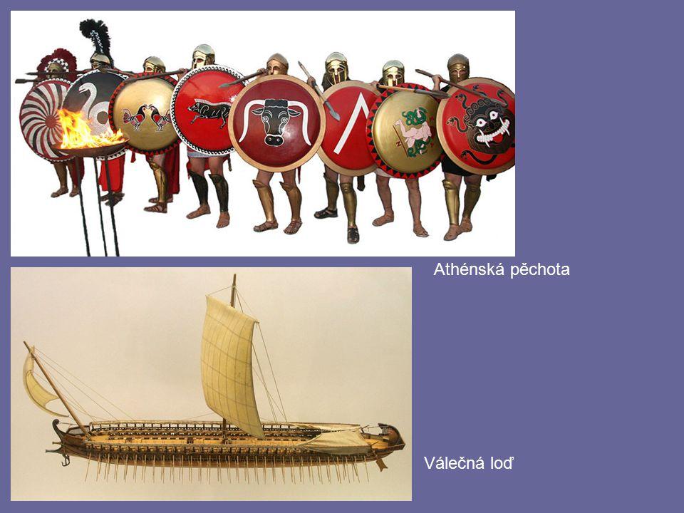 Athénská pěchota Válečná loď